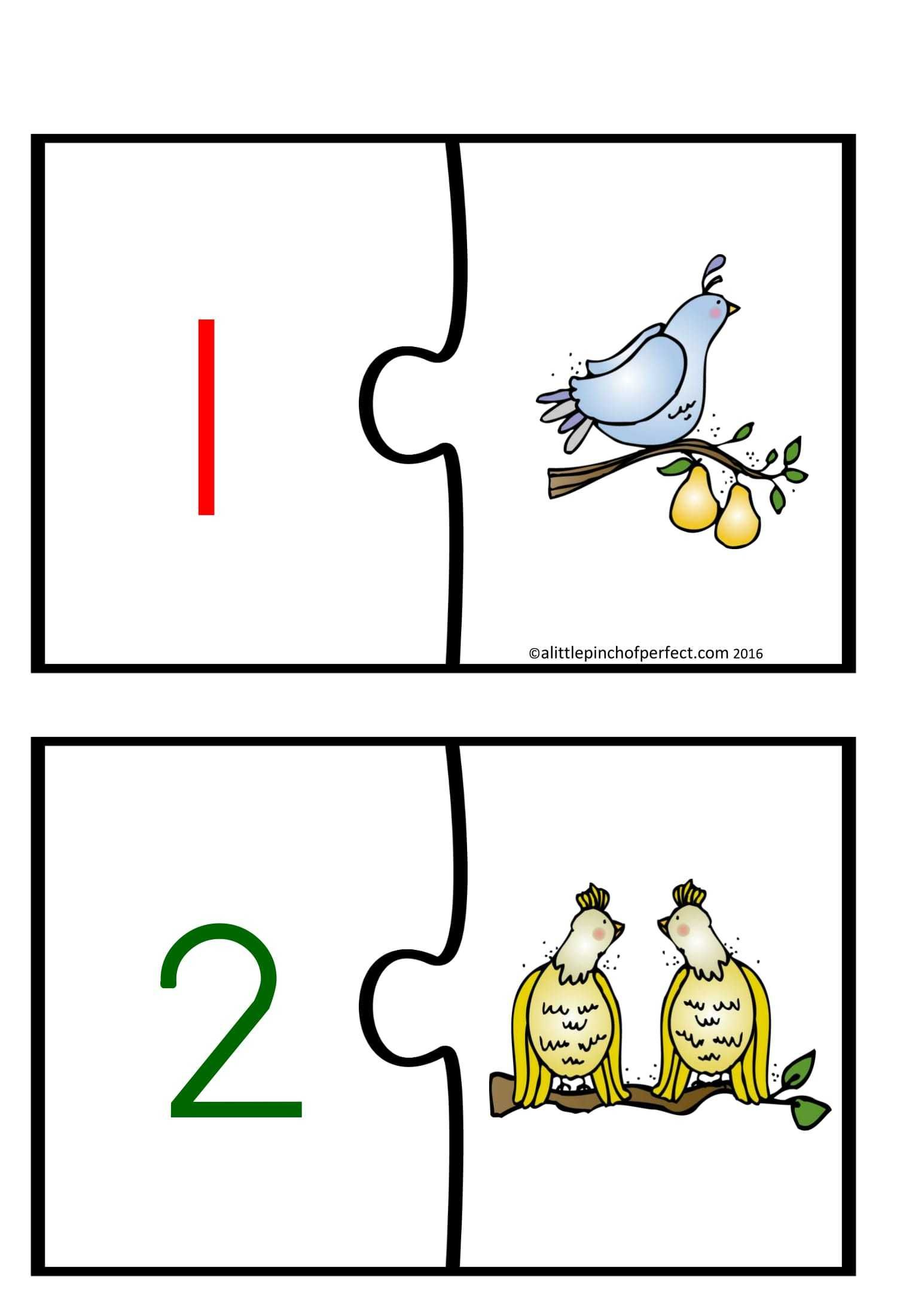 Number Matching Educational Toy Cards In