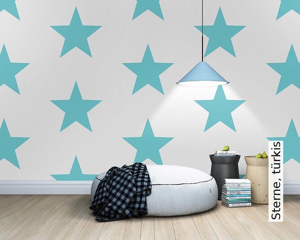 Innovativ Sterne, türkis | Türkis, Tapeten und Sterne DX13