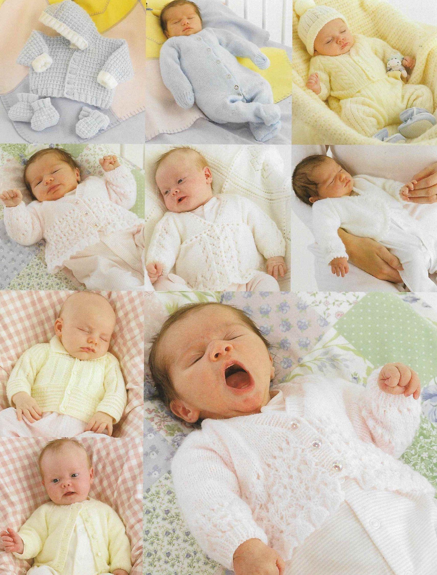 9 X Premature Baby 4 Ply Dk Knitting Pattern Pdf Newborn