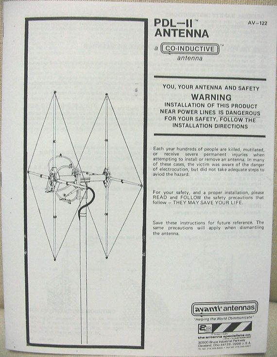 Antenna Specialists AV-122 PDL-2 Beam Antenna by gewelsngems | Radio
