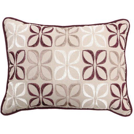 Hometrends Shona Collection Oblong Decorative Pillow Brown Cool Better Homes And Gardens Langston Collection Oblong Decorative Pillow