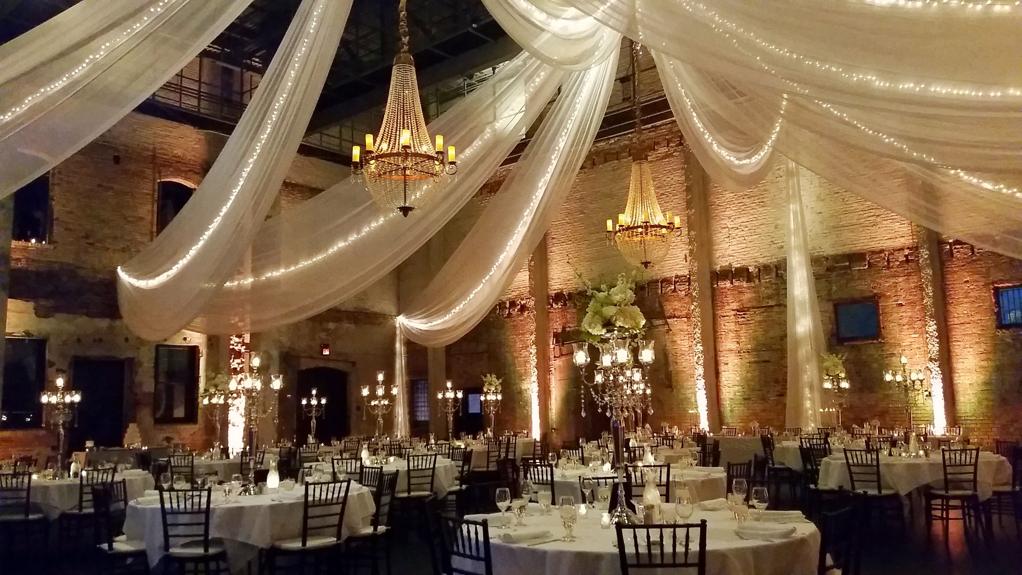 affordable wedding reception venues minnesota%0A Wedding Reception ARIA in downtown Draping  Chandeliers and Linens done by  Linen Effects