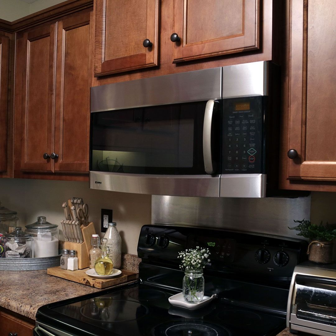 The Kitchen Customized For Your Needs Today S Homeowner Range Microwave Microwave Range Hood Microwave With Vent