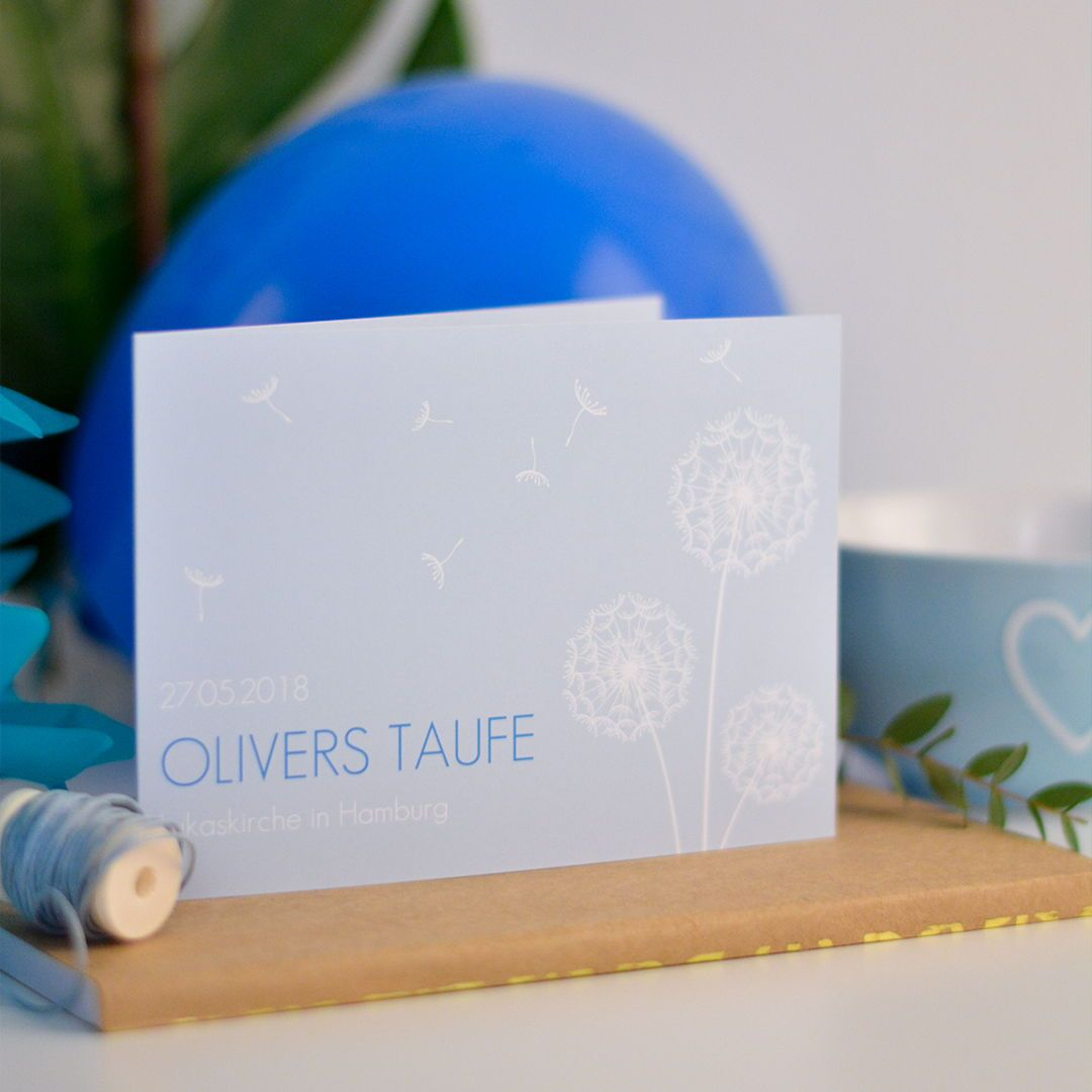 Familienfest taufe papeterie inspiration design pusteblume baby taufe