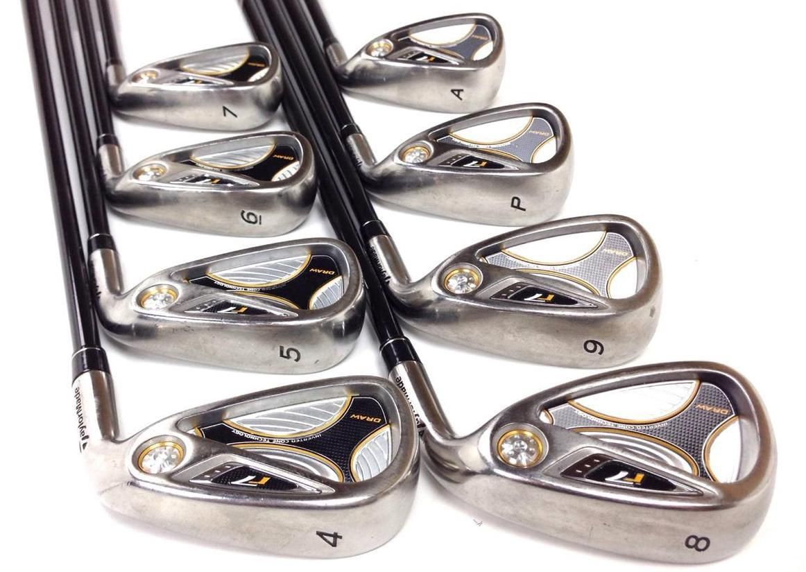 Taylormade R7 Draw Senior Iron Set 4 Aw 8pc Graphite Shafts Golf Clubs 199 99 Great Set Of Taylormade R7 Draw Irons Li Ironing Set Golf Clubs Taylormade