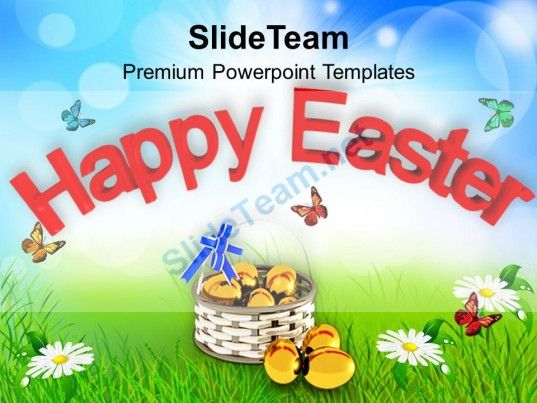 Happy Easter Wishes With Eggs Powerpoint Templates Ppt Themes And - easter powerpoint template