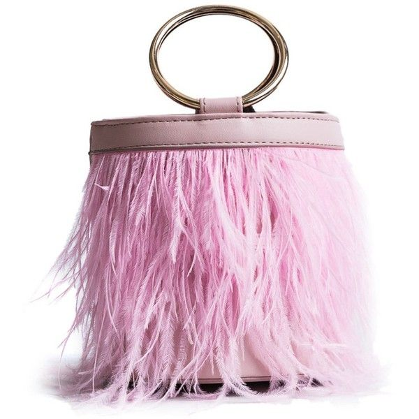 Pink Faux Fur Metal Ring Crossbody Bag 189 305 Idr Liked On Polyvore Featuring Bags Handbags Shoulder Purse