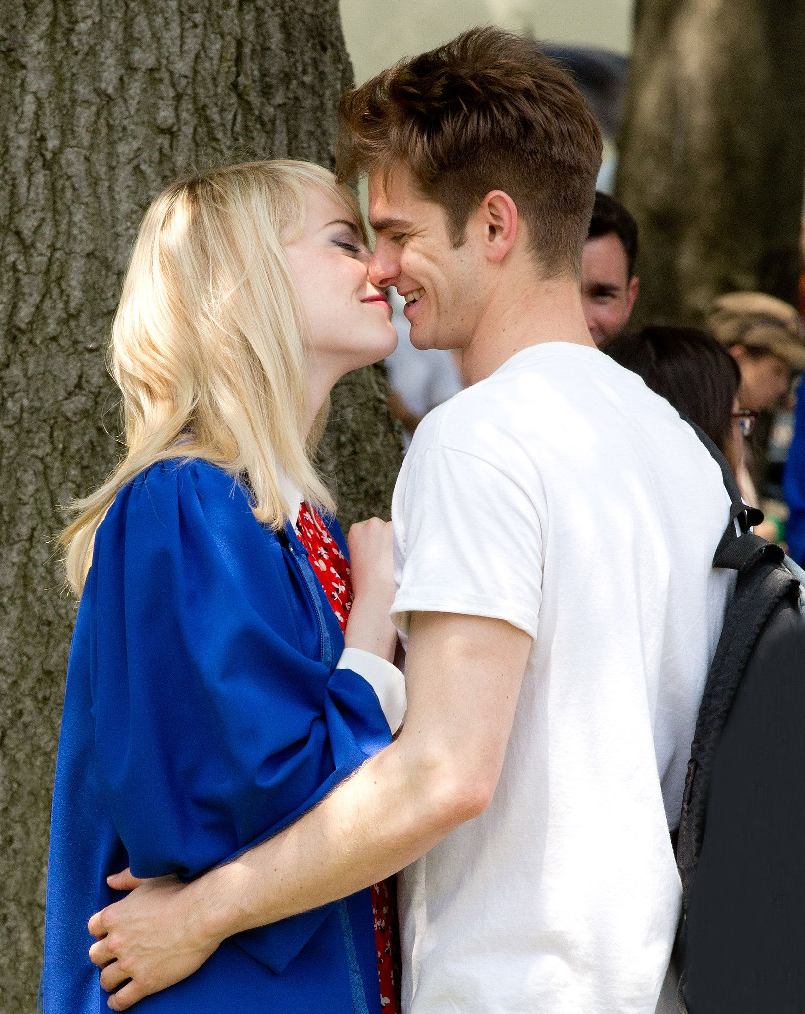 In June Andrew Garfield And Emma Stone Shared A Kiss On The Set