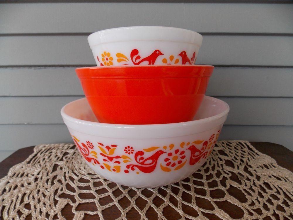 pyrex friendship bird mixing bowl pattern | Pyrex | Pinterest ...