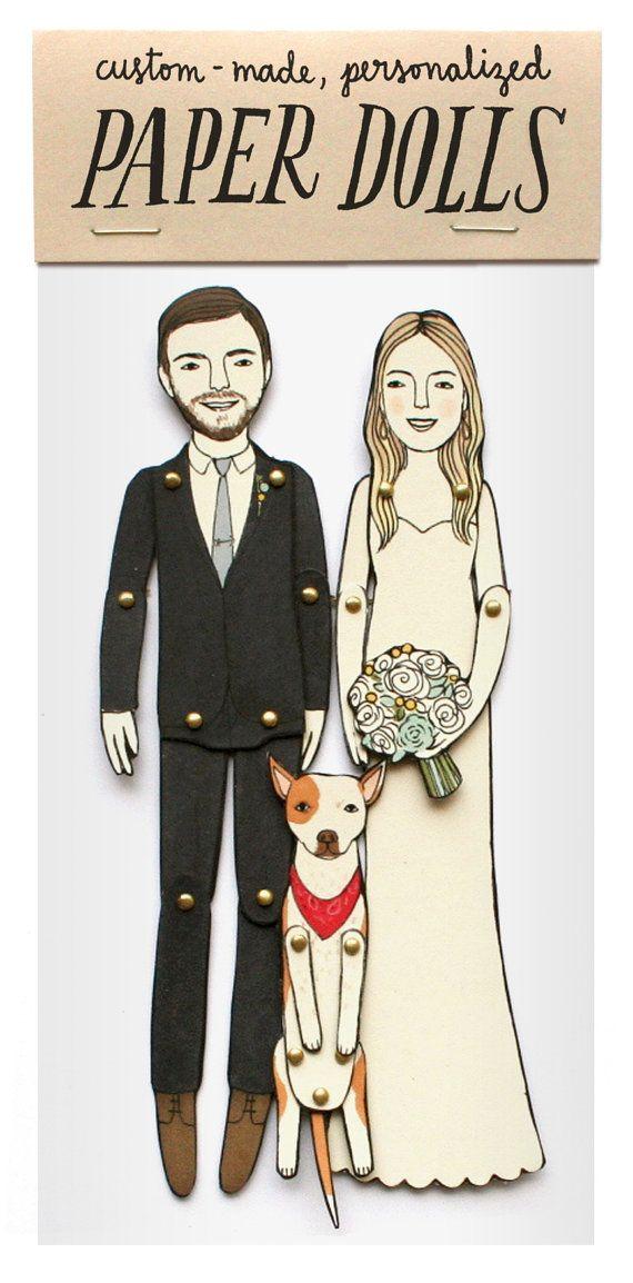 Personalisierte Hochzeit Papierpuppe für von JordanGraceOwens ...