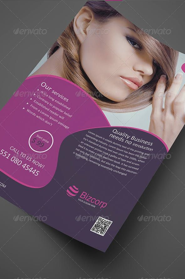 Beauty Flyer Vol. 02 — Photoshop PSD #construction #fitness
