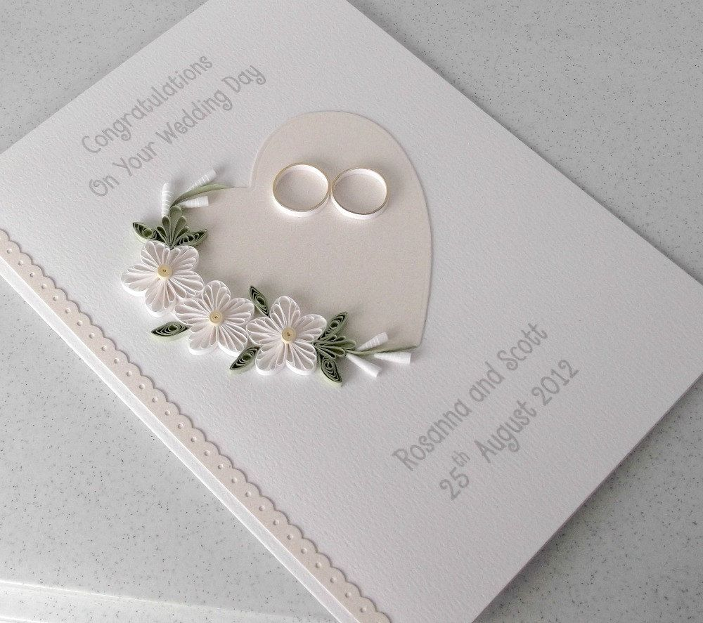 Quilled Wedding Card Paper Quilling Personalized Love It