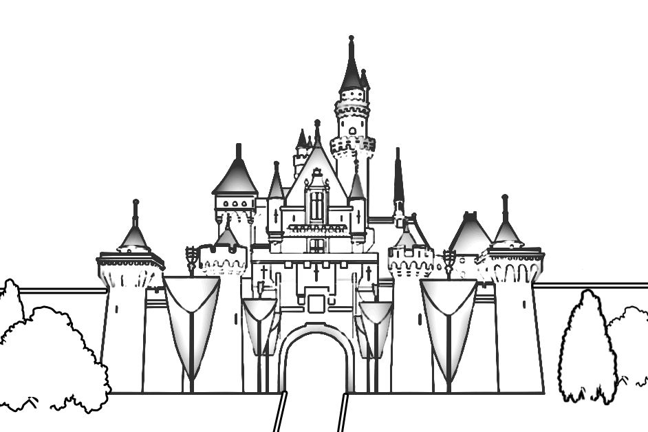 Castle Coloring Page Disney Castle Drawing Castle Drawing