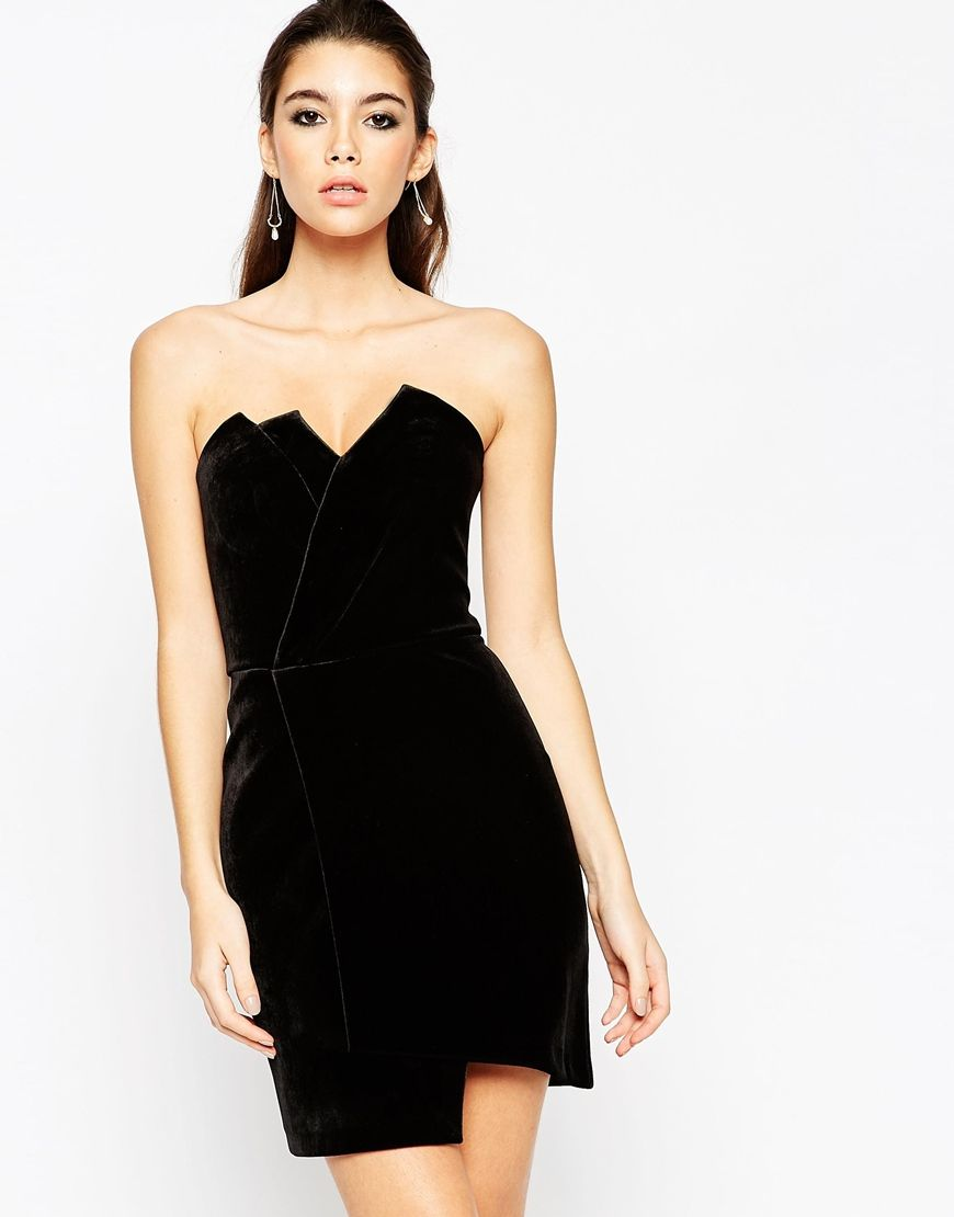 Black dress asos - Find This Pin And More On Fashion Dresses Bandeau Black Dress From Asos
