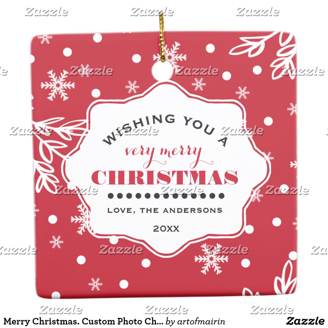 Merry Christmas. Custom Photo Christmas Ornaments Wishing you a very ...