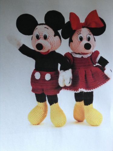 Mickey And Minnie Mouse Crochet Knitting Pattern Minnie Mouse