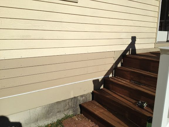 Had To Replace Some Masonite Siding On My House That Had Become Punky From Rain Coming Down Off The Roof And Splashi With Images Clapboard Siding Clapboard Masonite Siding