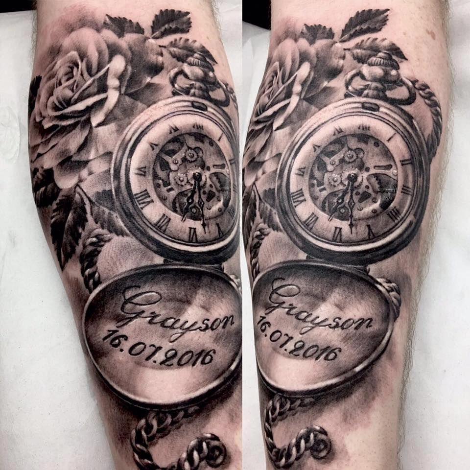 Half Sleeve Tattoos Lower Arm Halfsleevetattoos Pocket Watch Tattoos Watch Tattoos Pocket Watch Tattoo