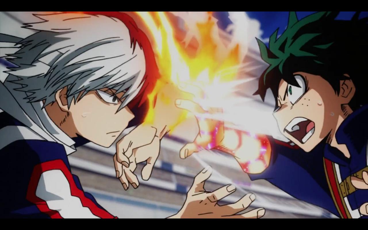 Choose resolution & download this. Shotō Todoroki VS Izuku Midoriya / Deku    Boku no Hero ...