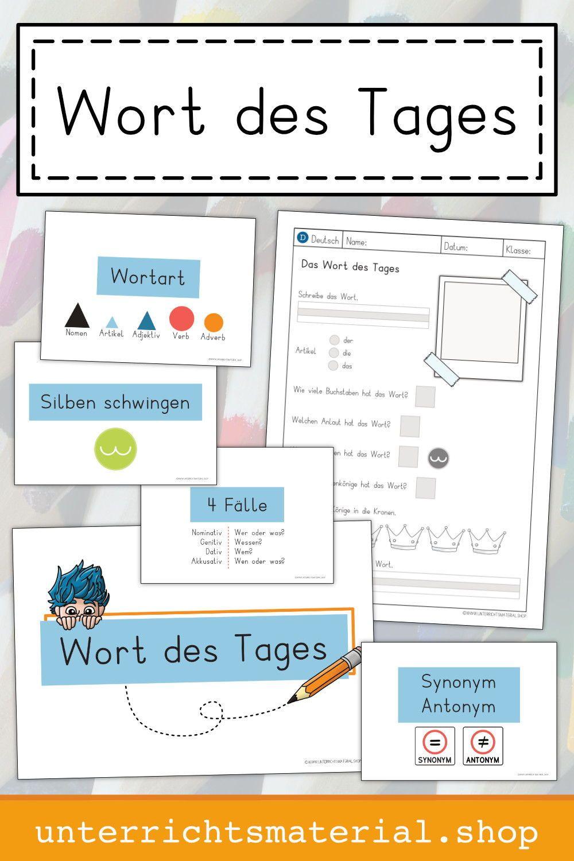 Deutschunterricht Grundschule: Wort des Tages | Deutsch