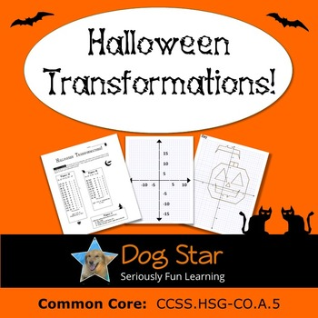Halloween Transformations HS Geometry Activity – Aligned to Common ...