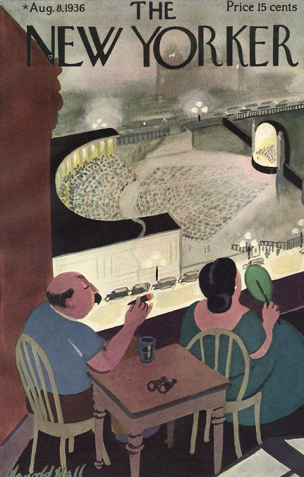 Arnold Hall : Cover art for The New Yorker, 8 August 1936