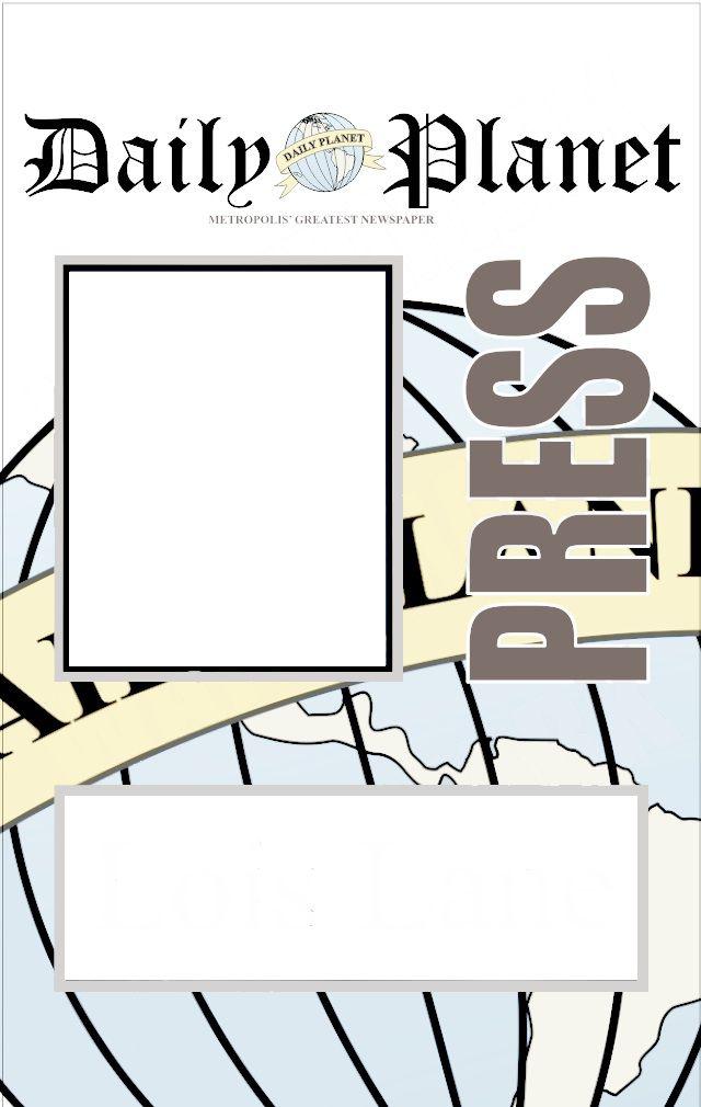 Universal image in clark kent press pass printable