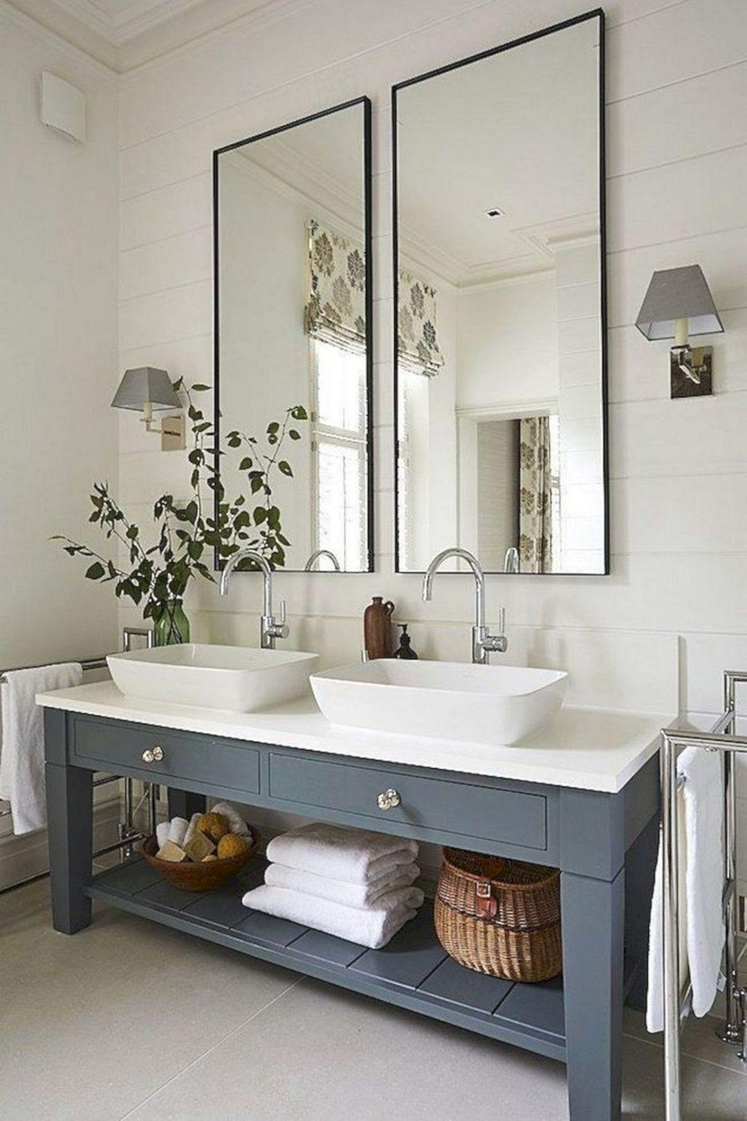 18 Modern Bathroom Vanity Design Ideas You Must Try Bathroom Renovation Designs Modern Farmhouse Bathroom Bathroom Styling [ 1620 x 1080 Pixel ]