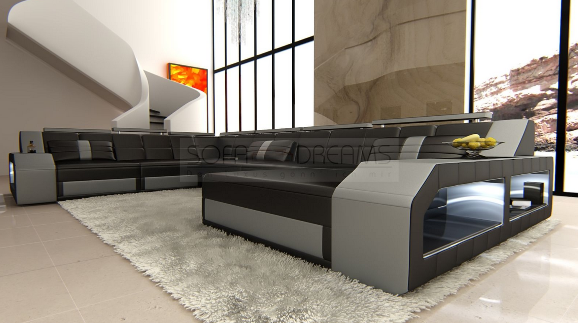 xxl couch g nstig gro es sofa leder wohnzimmer. Black Bedroom Furniture Sets. Home Design Ideas