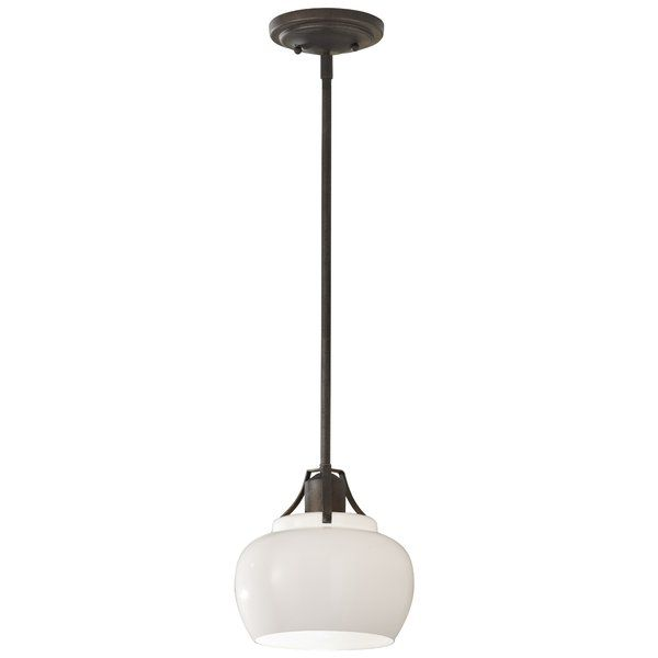 Abordale 1 light glass shade mini pendant youll love
