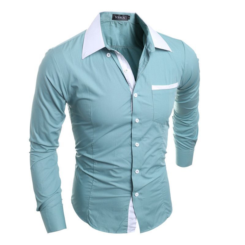 87c0ff1cac873 Men Shirt Luxury Brand 2016 Male Long Sleeve Shirts Casual Mens Simple  Solid Single Breasted Slim