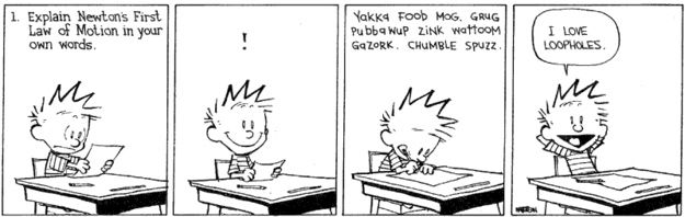 Image result for Exam calvin and hobbes