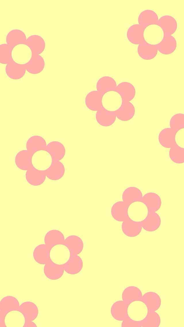 Pink  yellow flower background Cute backgrounds\u003c3 in 2019