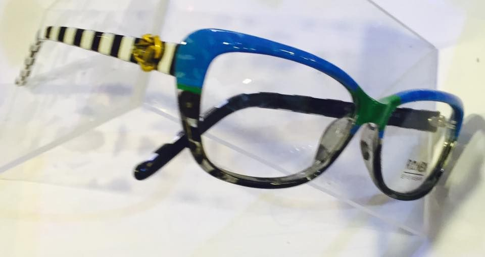 Side View Of The Amazing Colorful Ronex Eyeglass Frames Model J143 Hand Painted By Artist Roni Dori Frida Funky Glasses Hand Painted Eyewear Sunglass Frames