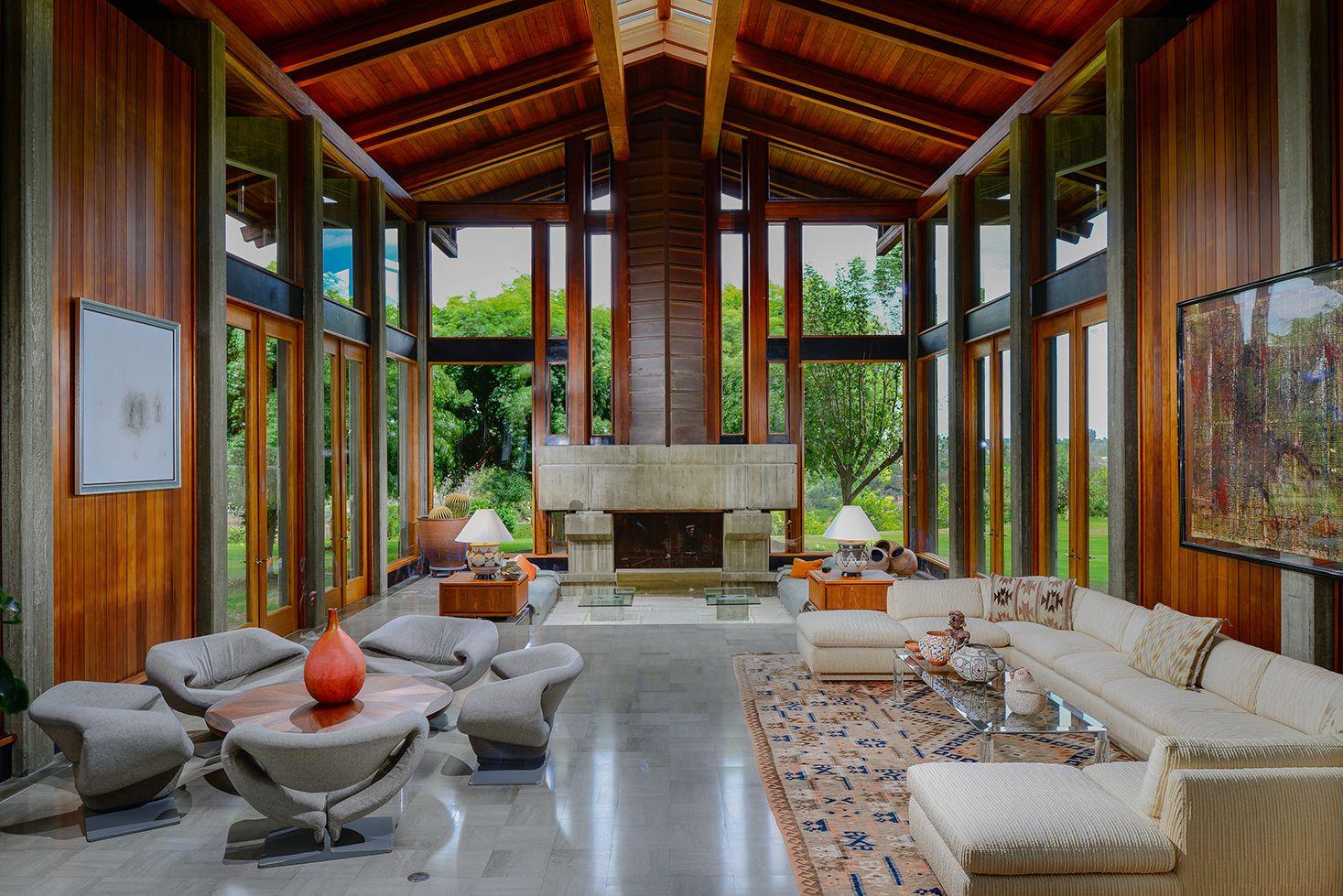 Del dios ranch stunning interiors designed by arthur elrod in this rancho santa fe home also rh pinterest