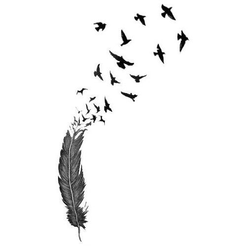 Feather to bird tattoo