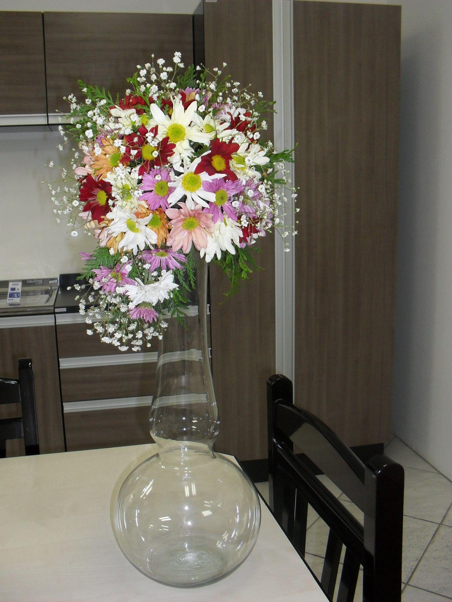 Centro De Mesa Com Crisantemo Margaridas Arranjos De Flores