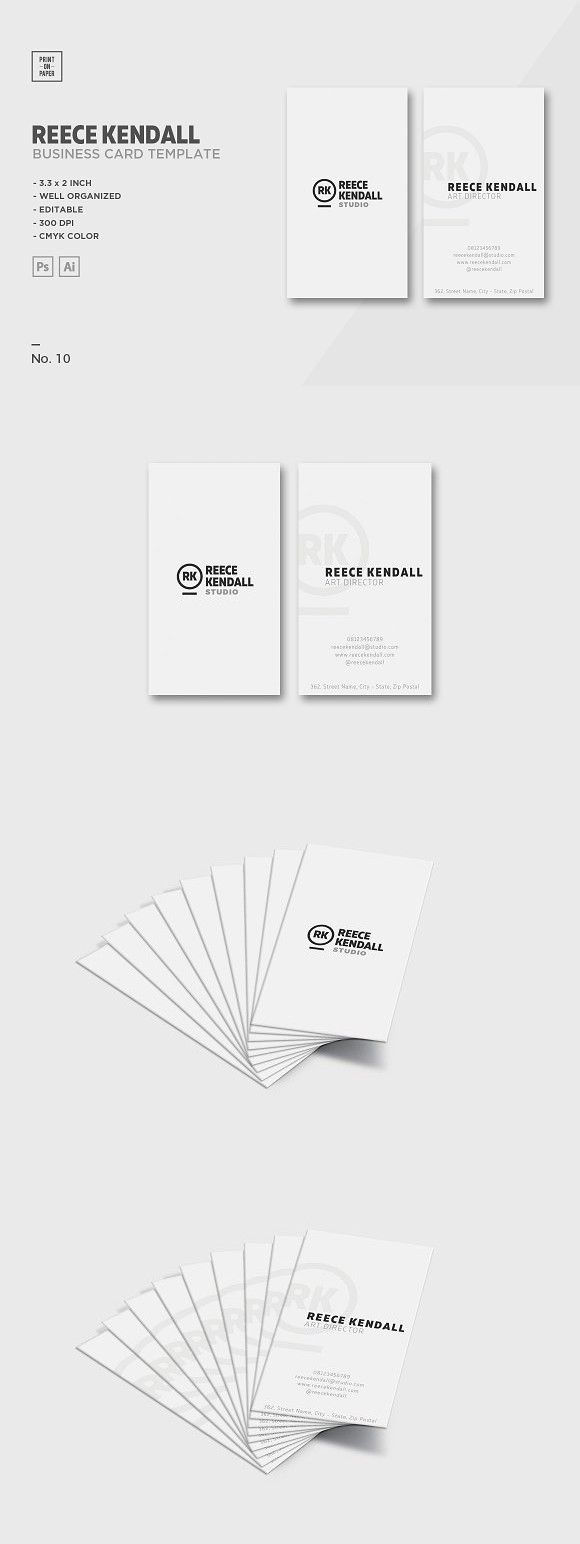 Minimalist business card no 10 business cards card templates and minimalist business card no 10 reheart Images