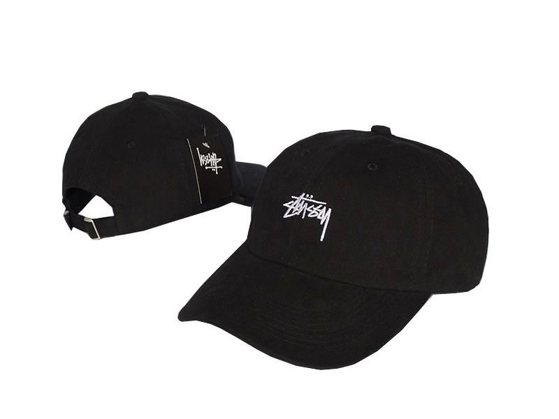 1e2ee6b8e44 Mens   Womens Stussy Stock Iconic Popular Fashion Golf Camp Strapback  Adjustable Cap - Black   White