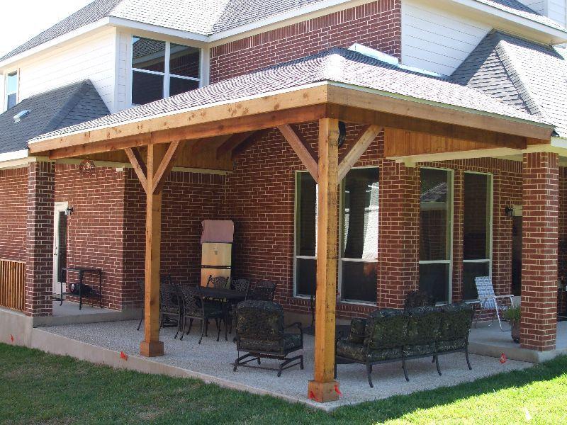 concrete patio pergola