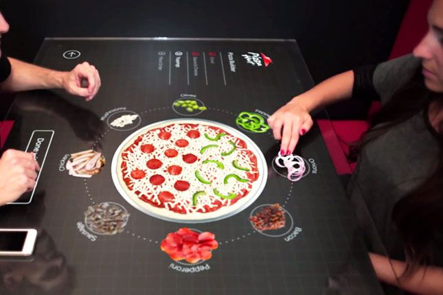 Order A Slice Of The Future On Pizza Hut S Touchscreen Tables Pizza Hut Pizza Order Food