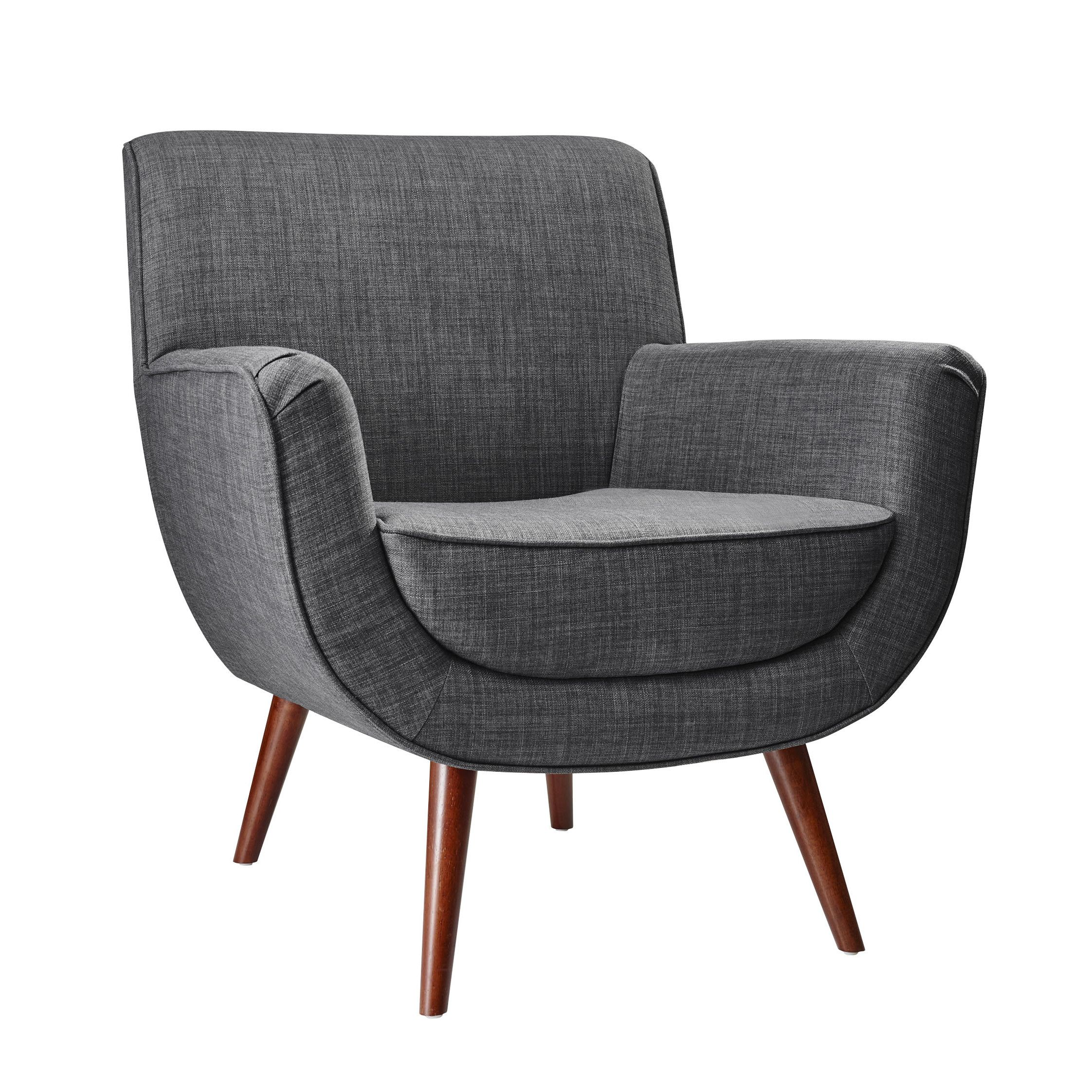 Adesso cormac chair cormac chair woven textured fabric upholstered chair rubberwood legs scooped bucket shaped plush seat measurements w x d x h seat