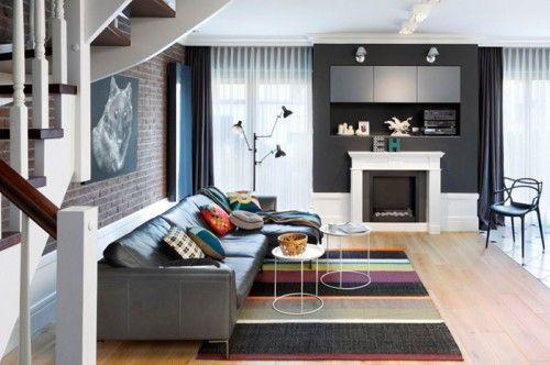 Moderen Hol Modern Living Room Modern Apartment Interior Design Interior Polish furniture for living room