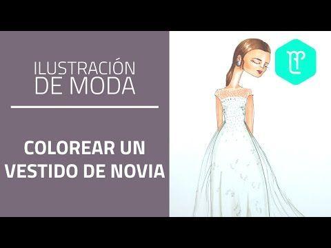 cómo colorear un vestido de novia   como dibujar   pinterest