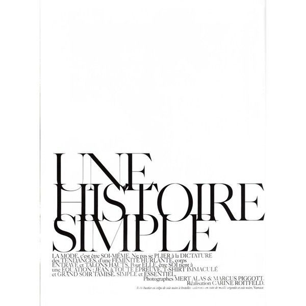 VOGUE Paris December/January 2008-2009│UNE HISTOIRE SIMPLE│Stephanie... ❤ liked on Polyvore