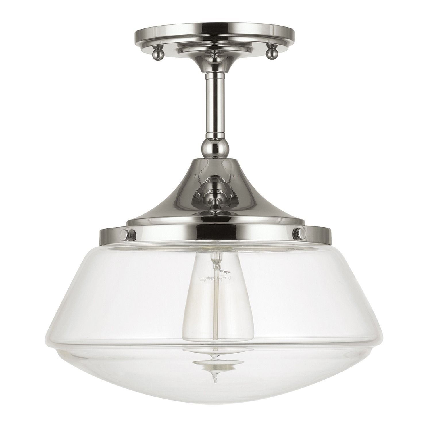 Update Your Decor With This School House Light Fixture Which Features A Retro