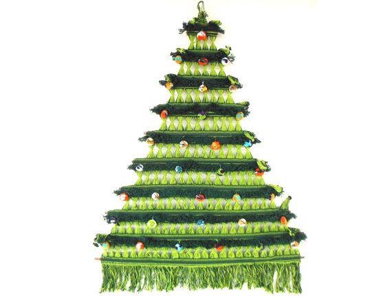 wall hanging christmas tree folk art christmas tree wall hanging colombian string weaving - Wall Hanging Christmas Tree