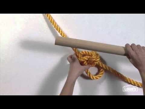 Tying A Double Bowline Knot For A Rope Swing Great Video Tutorial Tree Swing Diy Tire Swing Swing