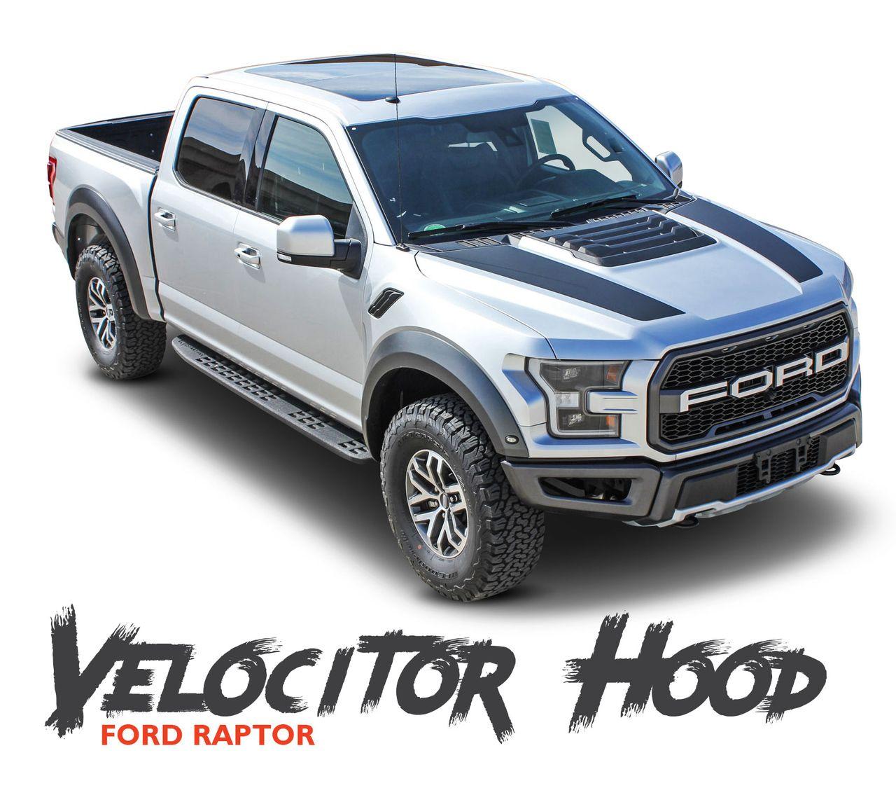 Ford Raptor Hood Stripes Velocitor Hood Decals Vinyl Graphics Kit 2018 2019 2020 Ford Raptor Vinyl Graphics Hood Stripe