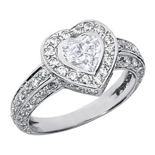 Vintage Heart Shape Diamond Engagement Ring I Do Pinterest